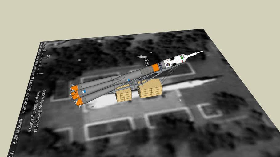 Soyuz Carrier Rocket Monument