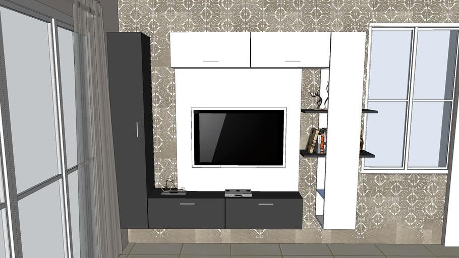 Wall Mounted Modern Style Tv Unit 3d Warehouse