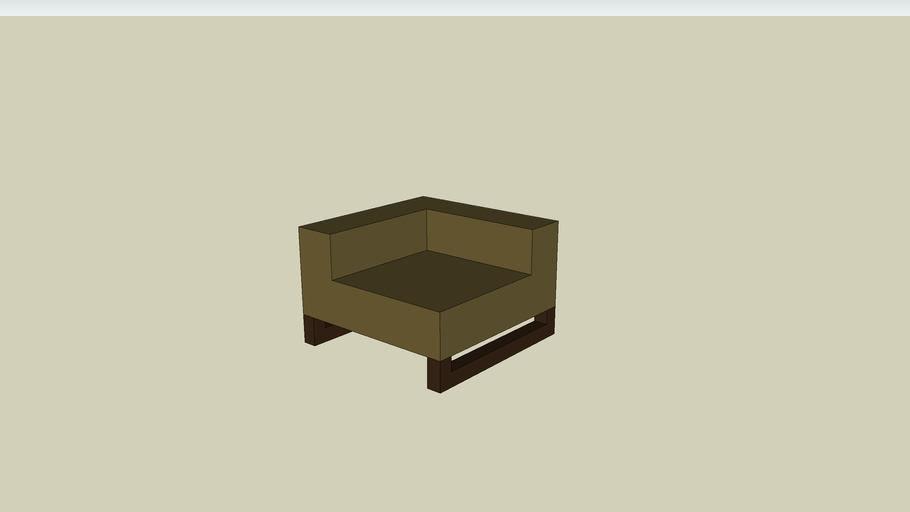 West Elm Upholstered Cube Sectional Corner