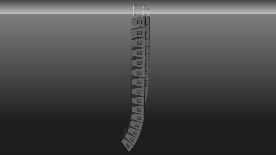 line array JBL com reforço de delay