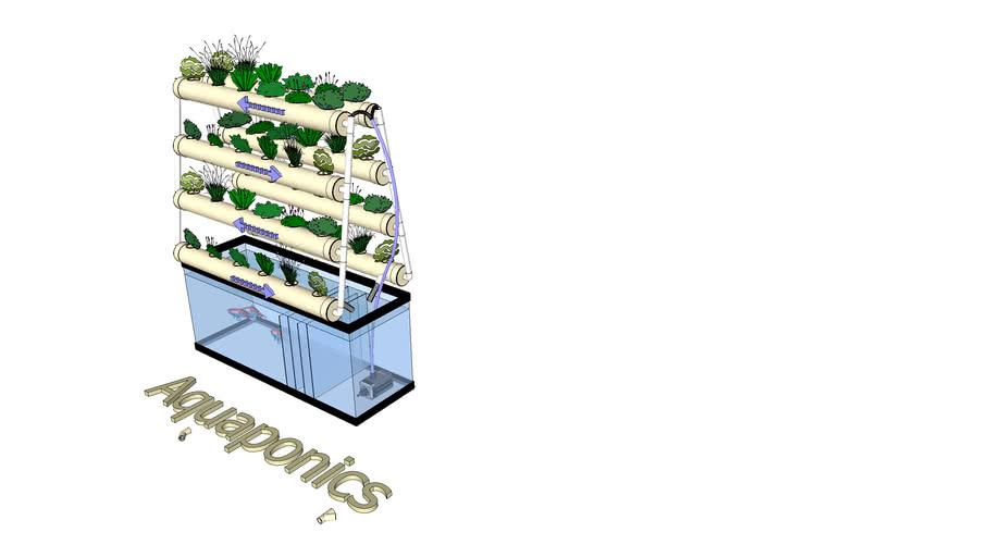 Aquaponics system NFT