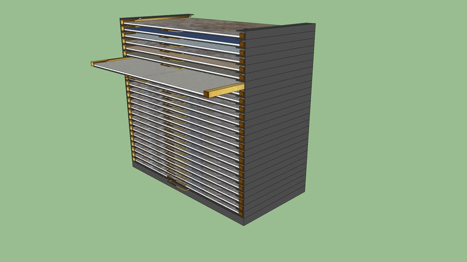 Sliding commercial furniture for tiles
