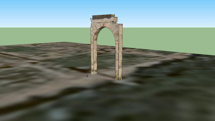 البوابة البيزنطية بمدينة لبدة الكبرى
