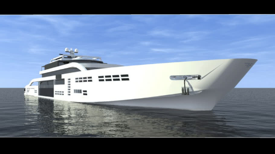 State Of the art SuperYacht designed by Alexander Fogg
