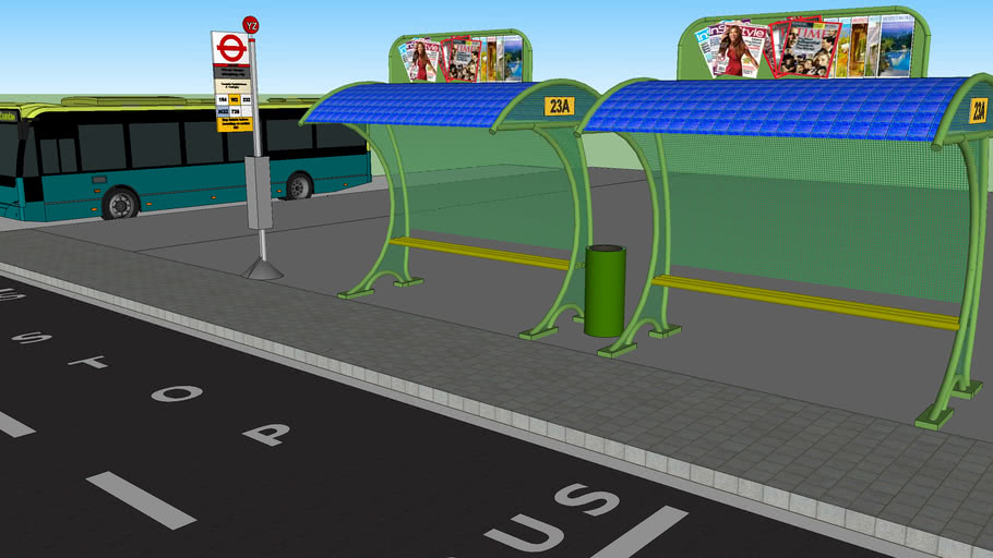 bus stop wih solar roof