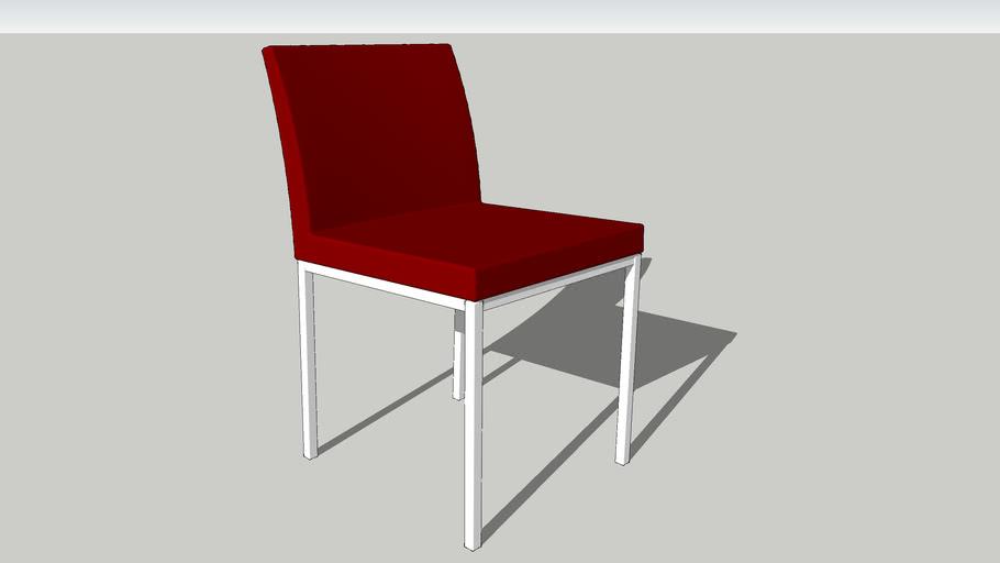 Aria chrome modern dining chair