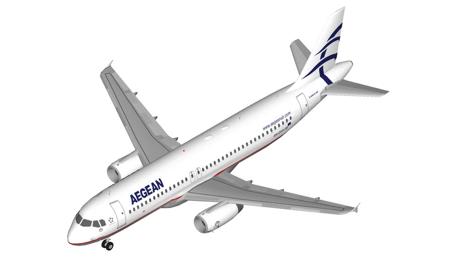Aegean Airlines Airbus A320 (winglets)