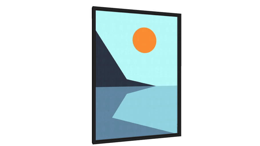 Quadro Paisagem Geométrica III - Galeria9, por Vitor Costa