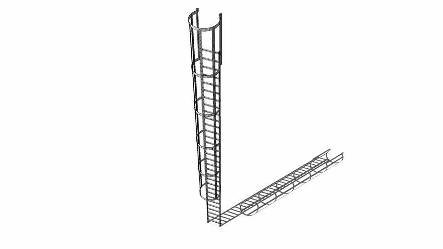Außenleiter - Steighöhe 8,60mAußenleiter - Steighöhe 8,60m