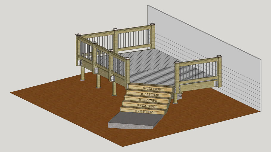 Creating a Deck with Black Railings and Post Toppers