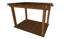 Peças madeira jardim