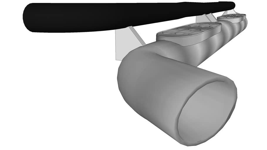 Hummer H2 side step muffler