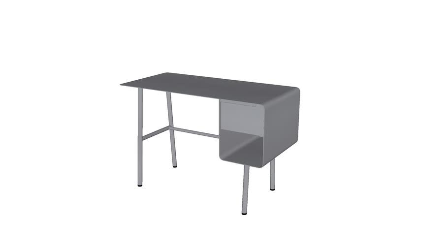 AMPM Bureau Steel gris anthracite