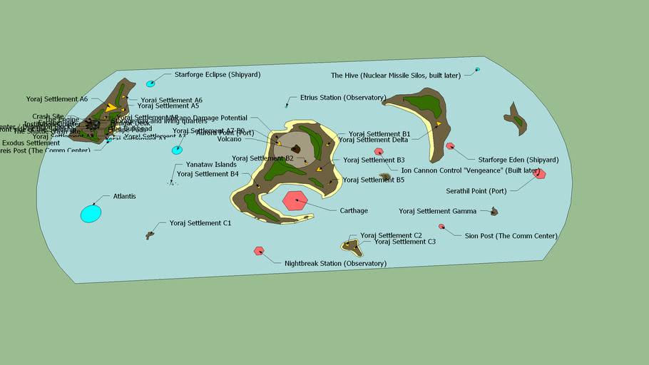 MMA Yoraj Planet Geo-Political Map