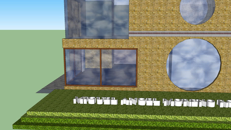 Modelo en 3D de una casa
