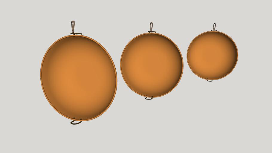 Utensílios de cozinha - Panelas de cobre