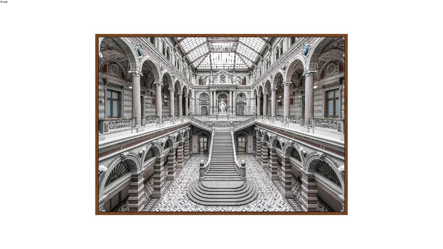 ARTIMAGE - Palace Of Justice In Vienna - 213 x 153 cm