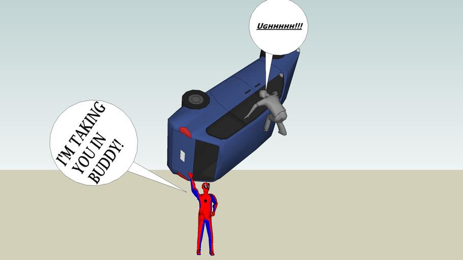 Spiderman movie scene