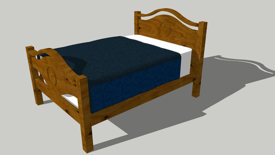 Full Size Bed Rustic