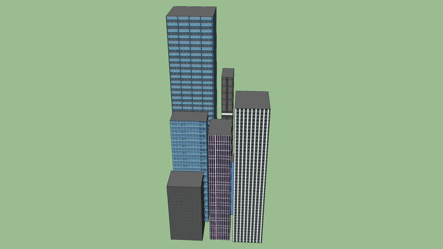 Small Cluster Of Buildings