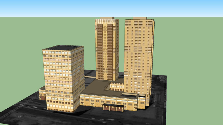 wtc cairo and hilton hotel  by arch : mohammed sharaf eldeen