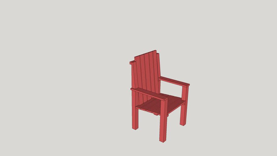Fauteuil picnic rouge