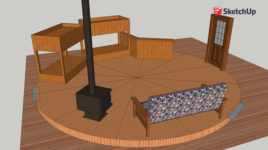 Yurt furniture layout