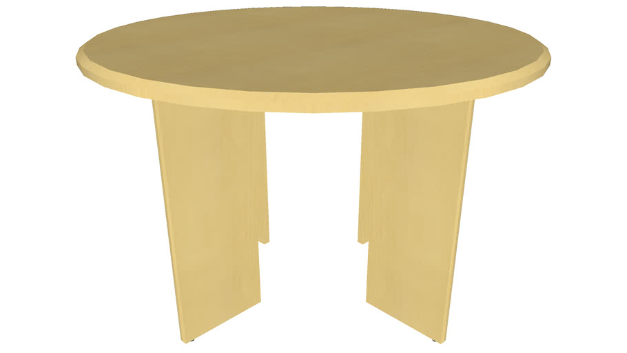 Circular Office Table 48in - Detailed