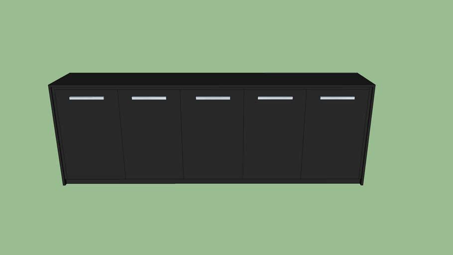Armario bajo  5 puertas  BELESA negro