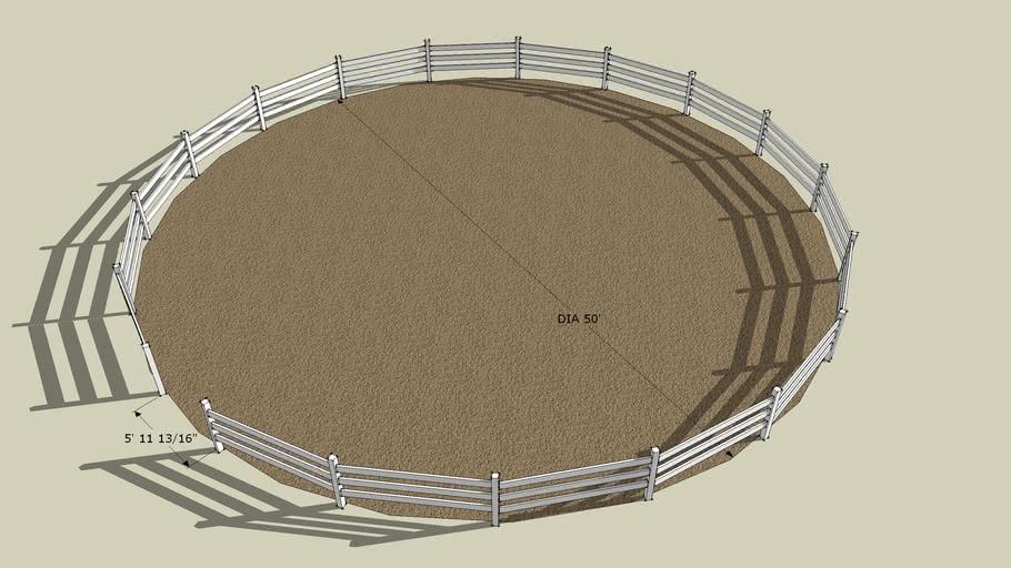 50' diameter round pen