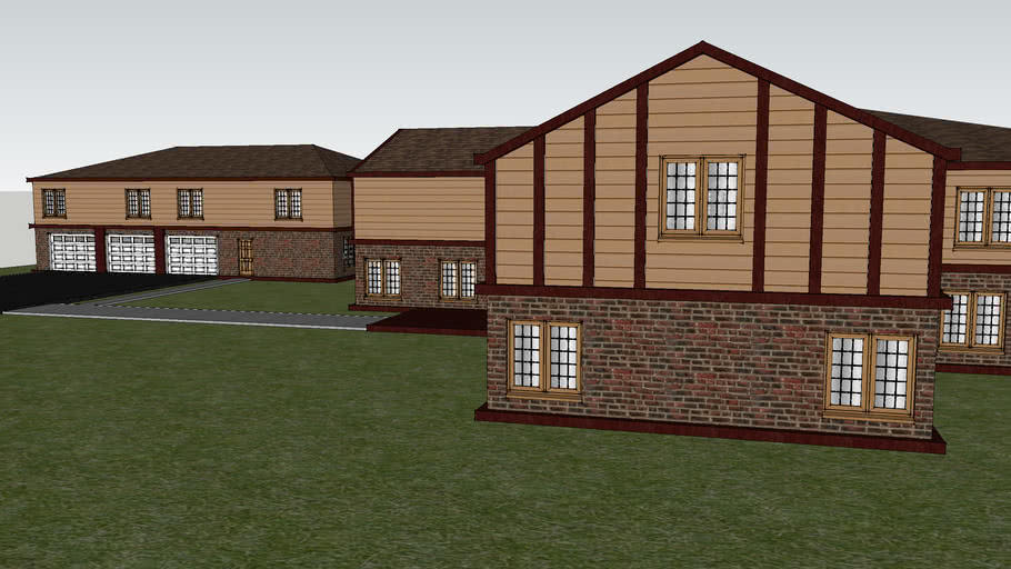 Home with separate garage