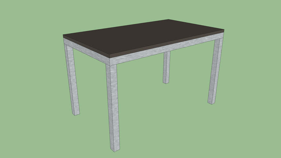 Crate & Barrel Myrtle Top/ Stainless Steel Base Parsons Dining Tables