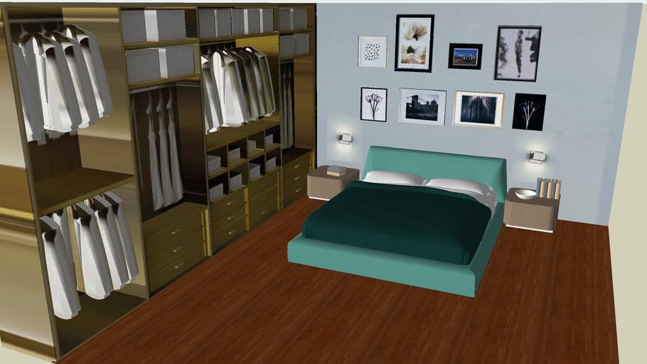 bedroom flou green2