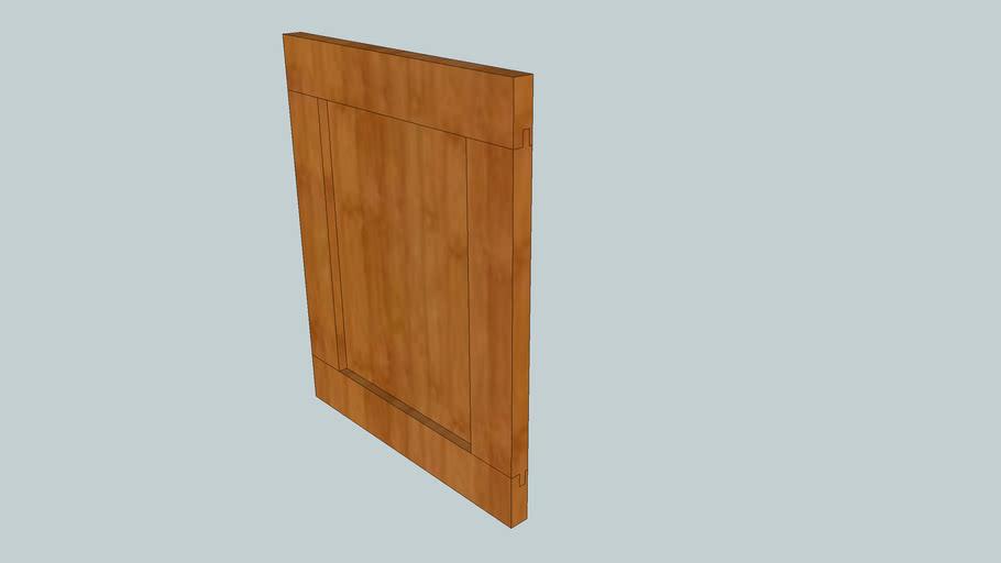 Flat Panel Shaker Door