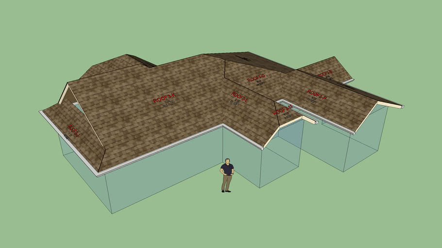 Complex Roof With Gutters 3d Warehouse