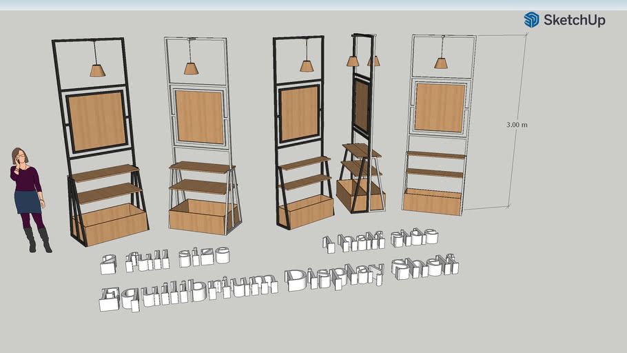 Equilibrium - industrial Shelf Display