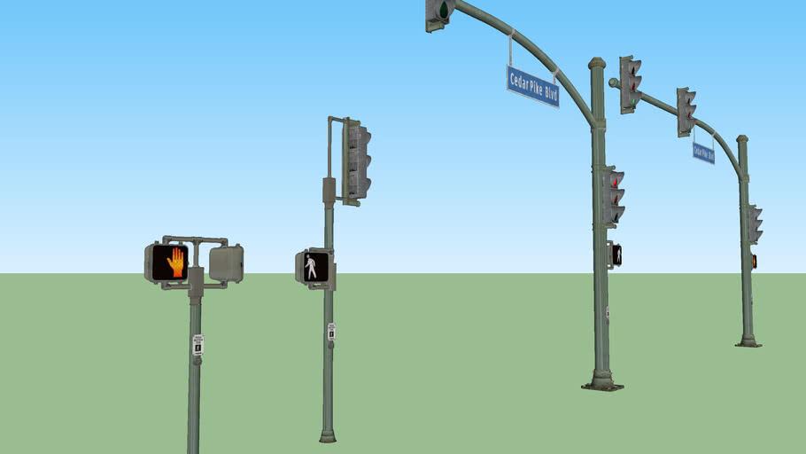 Vintage Traffic lights set
