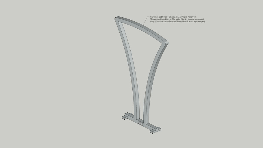 BFRE-101 Perenne Single Arch Bike Rack