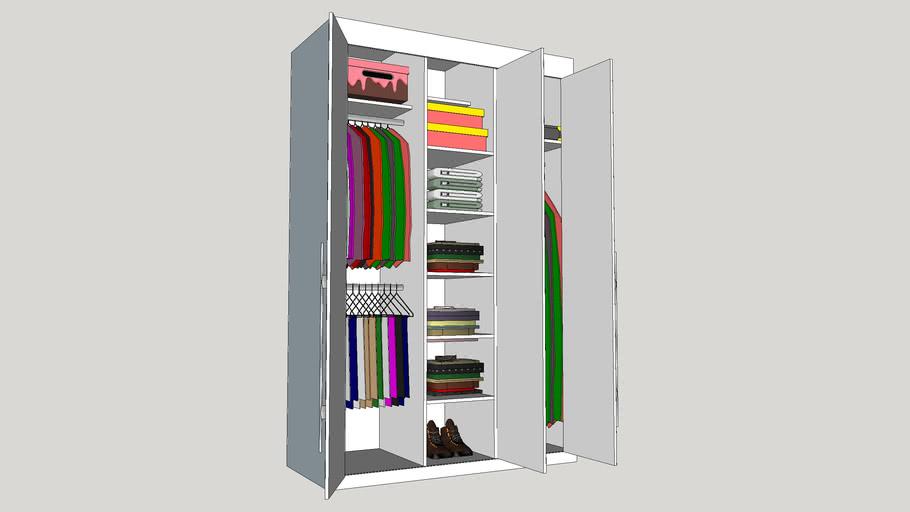 Three doors wardrobe