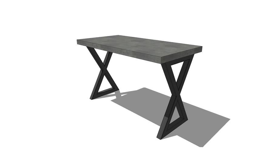 HCD – 24x48 X-Frame Desk w/2x2 Tube Steel