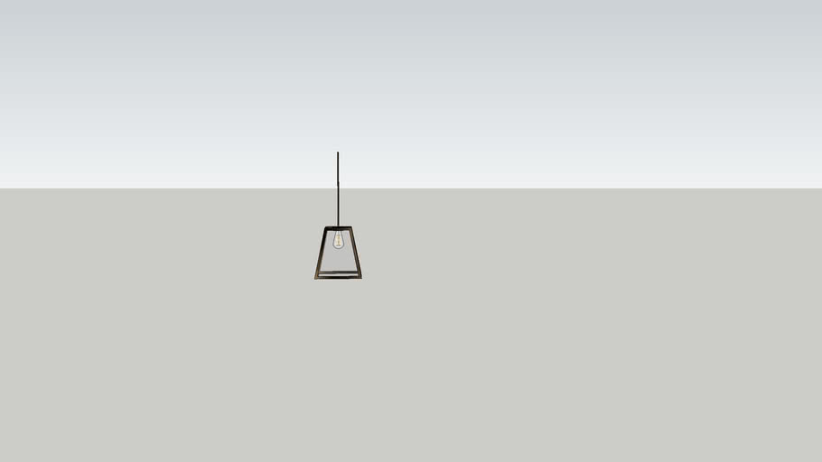 Pendant Light with Metal Frame and Glass