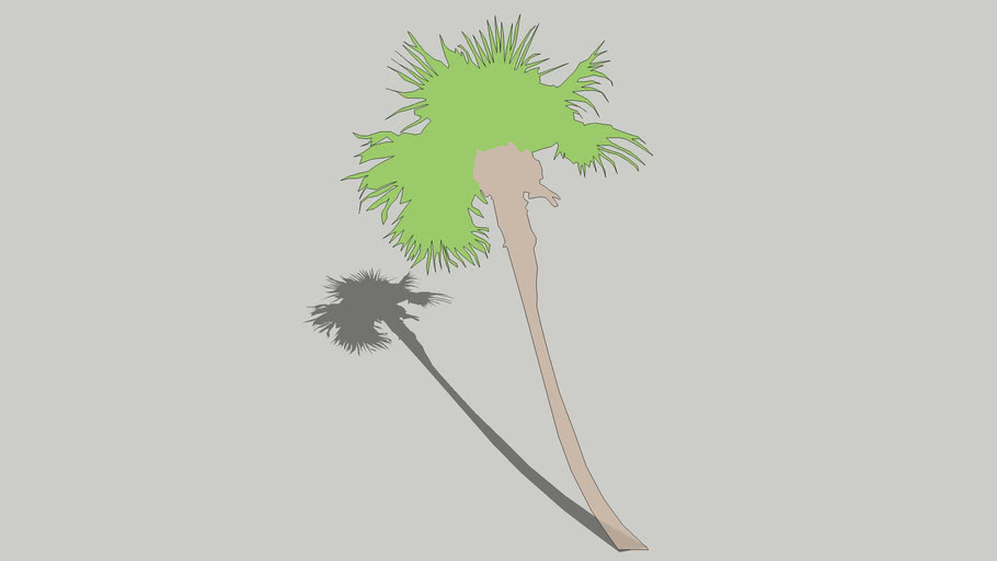 2D Schematic Palm Tree