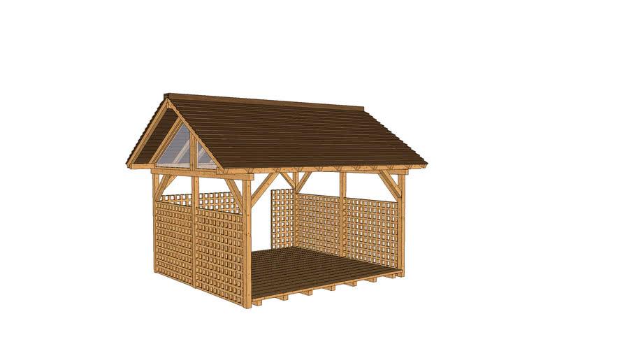 Pergola, Wooden House