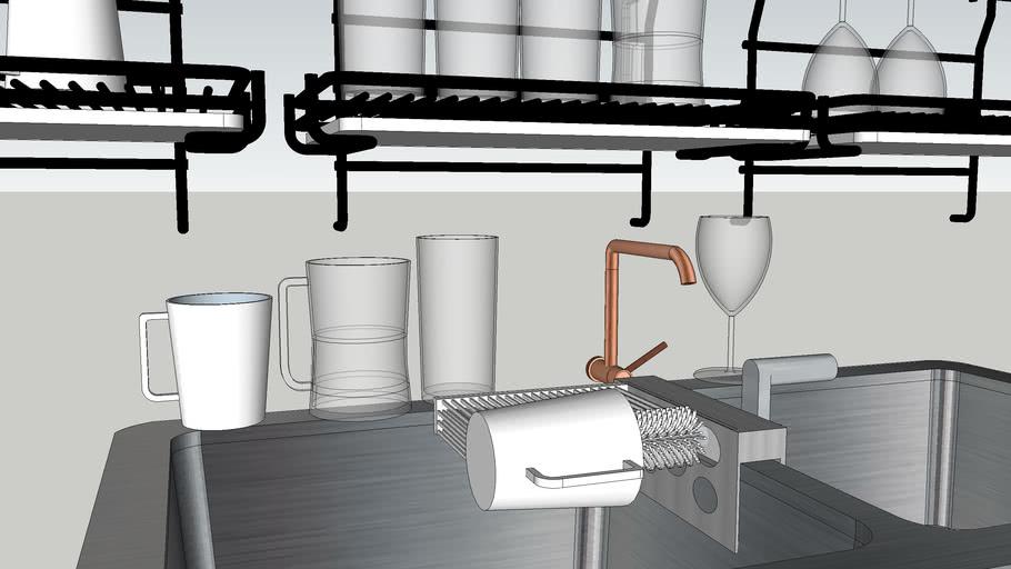 Cups Washing Tool