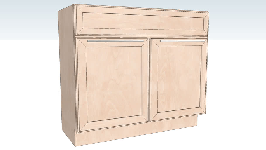 Vanity Sink Base Double Door