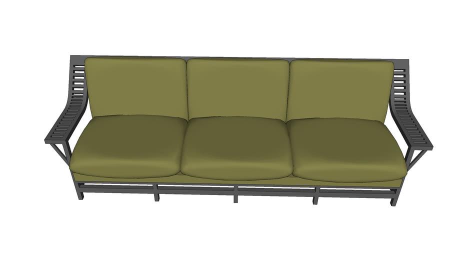 Sofa de Madeira Simples
