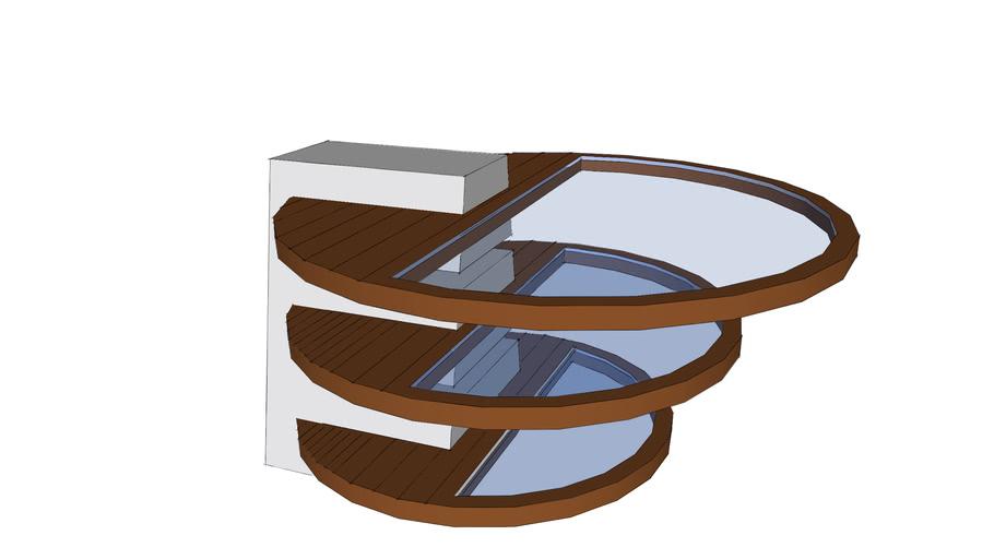 Half Round Glass Coffee Table