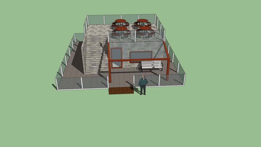 Cafe 10 x 10 meters
