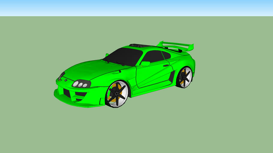 Toyota Supra Green