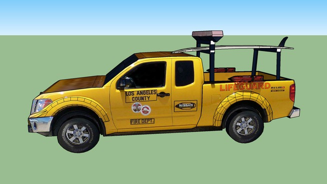 Nissan Frontier - Los Angeles County Lifeguards